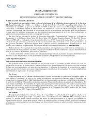 2004 circulaire d'information - Encana
