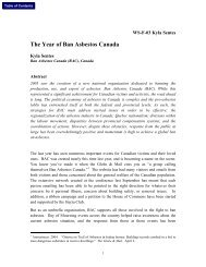 The Year of Ban Asbestos Canada - Clydebank Asbestos Group