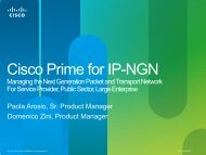 Cisco Prime for IP-NGN - Cisco Knowledge Network