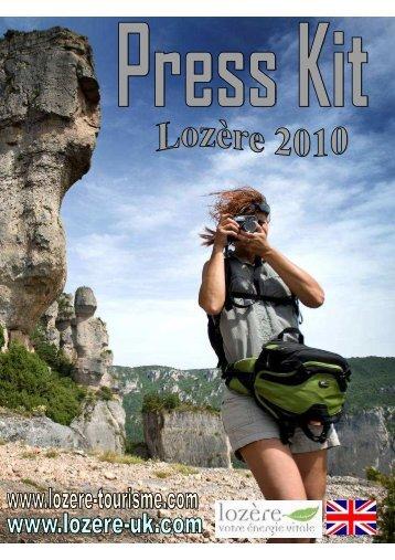 Dossier de presse Lozere 2010 English Final ... - Lozère Tourisme