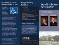 View my Fall 2012 Newsletter - Town of Caledon