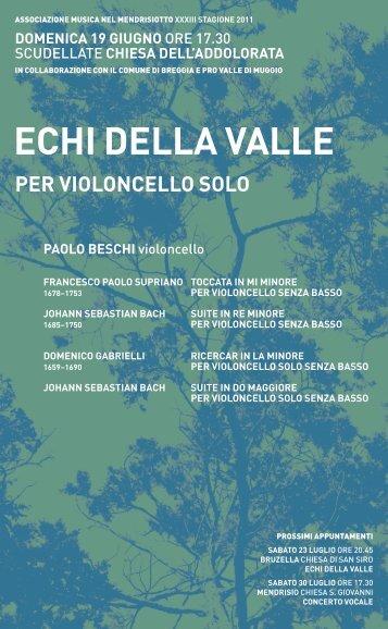 ECHI DELLA vALLE - Musica nel Mendrisiotto