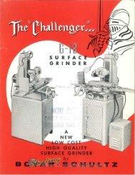 Boyar-Schultz Challenger 6-18 Surface Grinder Borchure - Sterling ...