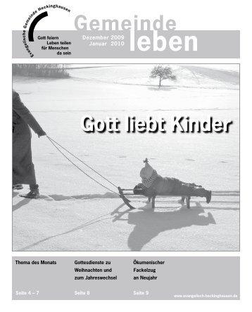 Gemeindebrief Heckinghausen 12/2009+01/2010 - Vereinigte ...