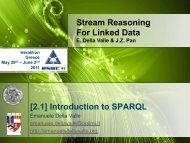 Stream Reasoning For Linked Data [2.1] Introduction to SPARQL