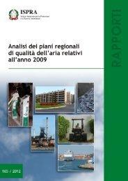 Analisi dei piani regionali di qualità dell'aria relativi all'anno ... - Ispra