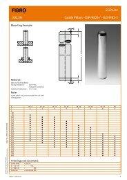 Guide Pillars ~DIN 9825 / ~ISO 9182-2, ECO Line - Fibro GmbH