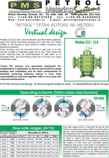 Petrol Metering Systems Srl - Via delle Valli, 25