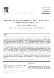 Fire history and landscape dynamics in a late-successional reserve ...