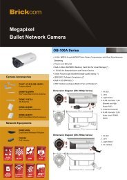 Megapixel Bullet Network Camera OB-100A Series - Tuotteet