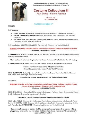 Programme CCIII - Europeana Fashion project site