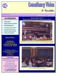 Jan.09 Issue - Consultancy Development Center