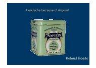 Roland Boese - Headache because of Aspirin!