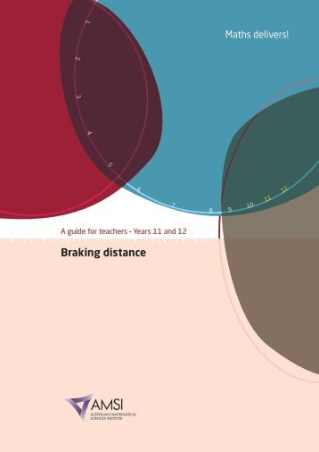 Braking distance - the Australian Mathematical Sciences Institute