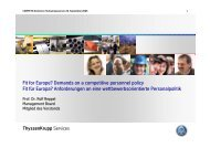 Fit for Europe? Demands on a competitive personnel policy Fit für ...