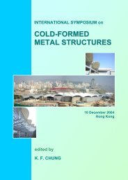cold-formed metal structures - The Hong Kong Institute of Steel ...
