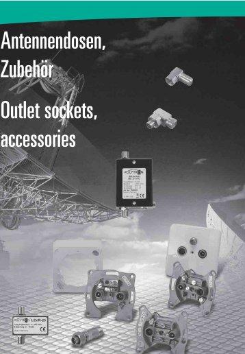 Antennendosen, Zubehör Outlet sockets, accessories - Tekno Group