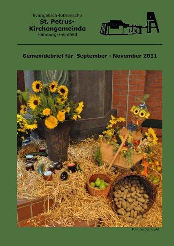 Gemeindebrief für September bis November 2011 - St. Petrus ...
