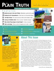 Contents & Letters - Plain Truth Ministries
