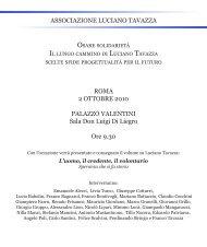 ASSOCIAZIONE LUCIANO TAVAZZA ROMA 2 ... - DIDAweb