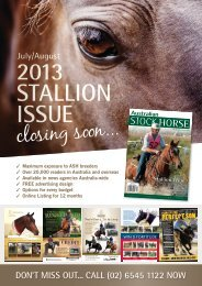 ASH Journal Stallion Advertising Booking Form - Australian Stock ...