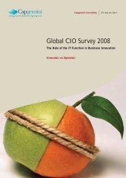 Global CIO Survey 2008 - Innovator vs Operator - Capgemini