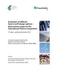 Evaluation of different feed-in tariff design options – Best practice ...