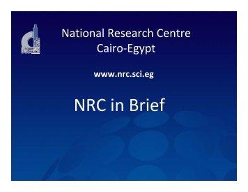 (NRC), Egypt - Comsats