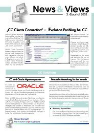 News&Views, Ausgabe 2/2002 - CC GmbH