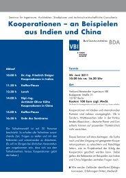 VBI Kooperation Indien und China - architekten24.de