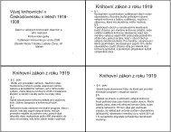 (V\375voj knihovnictv\355 v \310eskoslovensku v letech 1918-1938)