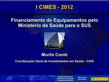 Palestra Murilo Contó - CGIS/ Ministério de Saúde