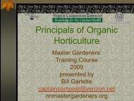 Principals of Organic Horticulture - Gloucester County Virginia