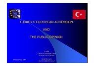 TURKEY'S EUROPEAN ACCESSION AND THE PUBLIC OPINION