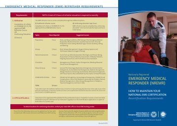 EMR - National Registry of Emergency Medical Technicians