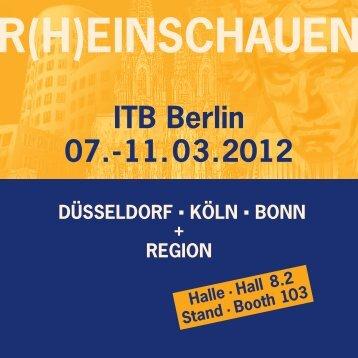 EINSCHAUEN ITB Berlin 07.-11.03.2012 ... - Bonn Region