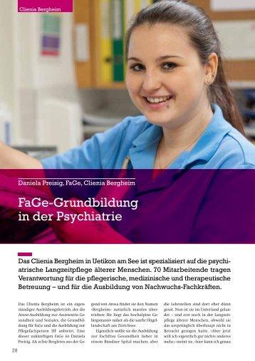 FaGe-Grundbildung in der Psychiatrie - ZAG