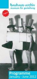 Programme - Bauhaus Archive