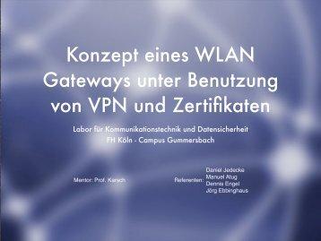 Konzept eines WLAN Gateways unter Benutzung von VPN ... - Atug.de
