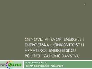 Obnovljivi izvori energije i energetska učinkovitost u ... - MojaEnergija