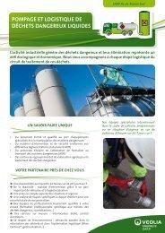 pompage et logistiqUe de déchets dangereUx liqUides