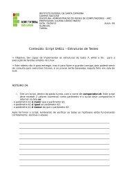 Conteúdo: Script SHELL – Estruturas de Testes - Wiki
