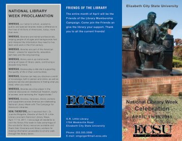 friends of the library - Elizabeth City State University