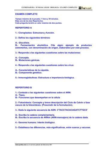 EXAMEN COMPLETO REPERTORIO A 1.- Cloroplastos: Estructura ...