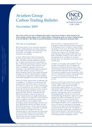 Ince & Co aviation carbon trading newsletter