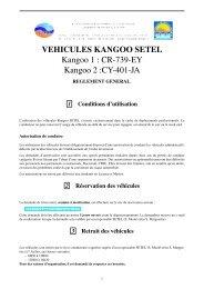 VEHICULES KANGOO SETEL Kangoo 1 : CR-739-EY ... - Cerege