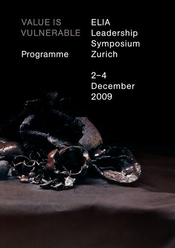 Programme brochure - European League of Institutes of the Arts