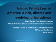 Islamic Marriage Contracts - National Council of Juvenile and Family ...