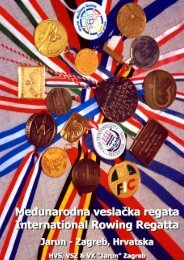 Program - Veslački savez Zagreba