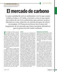 El mercado de carbono - Revista Perspectiva
